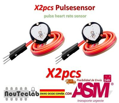 2pcs Pulsesensor Heart Rate Pulse Sensor Module Open Source for Arduino