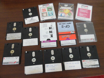 """14 Amstrad 3""""   Floppy disks including  games,  Amsoft utilities, rewriteable"""