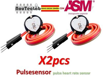 2pcs Pulsesensor Heart Rate Pulse Sensor Module