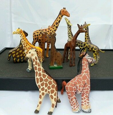 Lot of 10 Giraffes Giraffe Miscellaneous / Ornaments / toys / wood plastic cloth