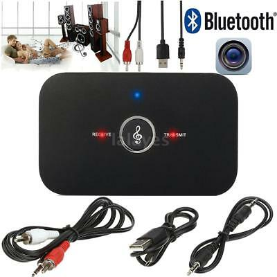2in1 3.5mm Bluetooth Receiver + Transmitter Adapter Audio Player For MP3/4 TV PC