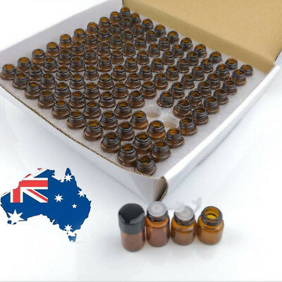 20X 100X 1ml - 5ml Dram Glass Bottle Sample Jars Essential Oils Orifice Reducer