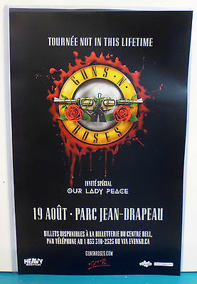 POSTER * GUNS N' ROSES Montreal Canada 2017 CONCERT TOUR not in this lifetime