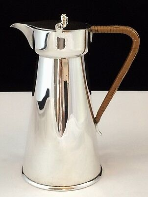 Antique Silver Plated Hot Water Jug with Pivot Lid - Art Nouveau 1 ½ Pint