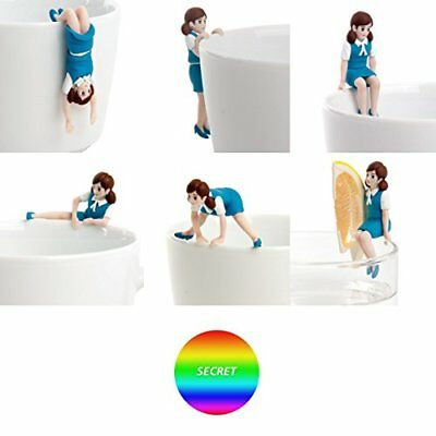 Koppu no Fuchiko Angel in Edge of Cup Figure Light Blue All 7 Set 264