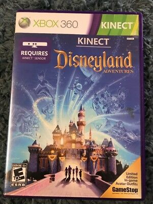Xbox 360 Kinect Disneyland Adventures Rated E 10+ Used