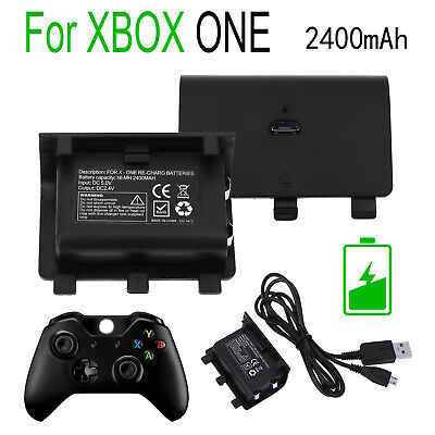 2400mAh Rechargeable Battery Pack For XBOX ONE Wireless Controller +USB Cable