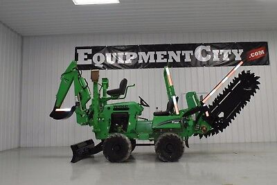 2013 Vermeer RT450 Trencher Vibratory Cable Plow Backhoe Case Ditch Witch