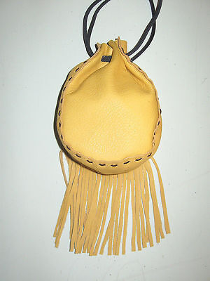 Wfgb-02 Golden Yellow Fringed Cow Leather Bag Free Shipping Within Usa