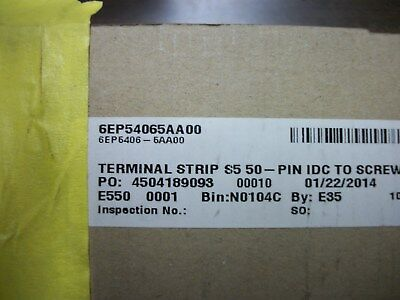 (3) New In Boxes Siemens 6Ep54065Aa00 Terminal Strip Converter From 50-Pin Idc