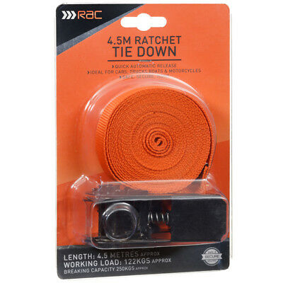 New Non slip Light Extremely Safe RAC Buckle Tie Downs Safe and secure  4.5m