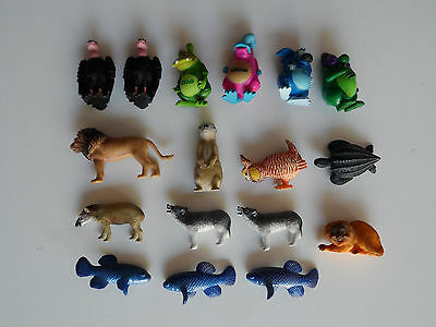 Lot of 17 Yowie Collectible Toy Figures Animals Loose
