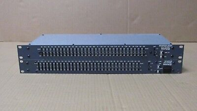 Lot of 2 Biamp Advantage mEQ301 30-Band Graphic Equalizer
