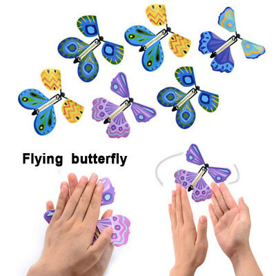 New Hand Transformation Fly Butterfly Magic Tricks Props Funny Surprise Prank