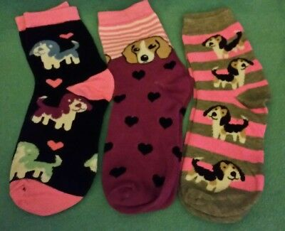 Lot of 3 pairs of Beagle Socks brand new adult size