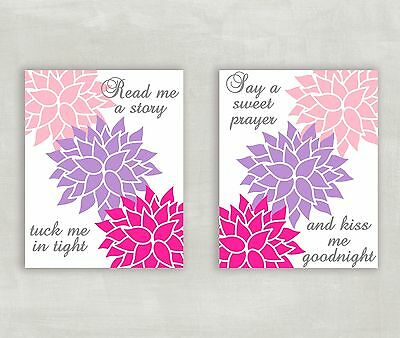 Read Me a Story Tuck Me in Tight Baby Room Decorations for Girls 8x10 Print (2)