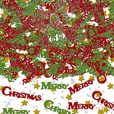 Merry Christmas Confetti Scatters XMAS Table Decor Party Supplies Red Green