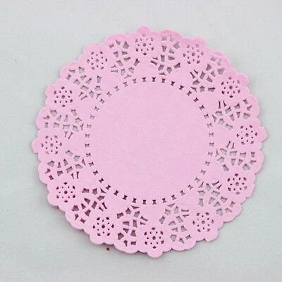 "20pcs 4.5""/11cm Round Lace Doilies paper for Party craft Scrapbooking Pink"