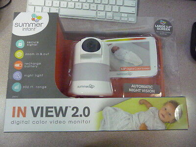 Summer 29650 Infant  In View Color Digital Video Monitor White New