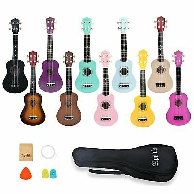 21 inch Soprano Ukulele Apelila Acoustic Mini Guitar Music Instrument + Gig Bag