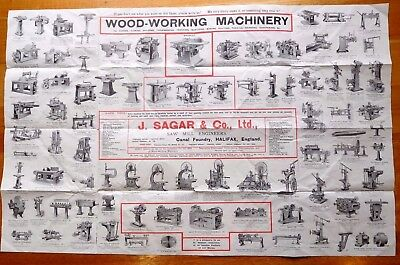 J.Sager & Co. Ltd wood-working machinery poster genuine trade advertisement OLD