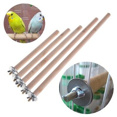 Parrot Pet Raw Wood Hanging Stand Rack Toy Bird Cage Branch Perches 1.5cm