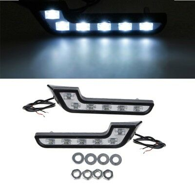 2x Universal LED Super White Car Driving Lamp Fog 12V DRL Daytime Running Light