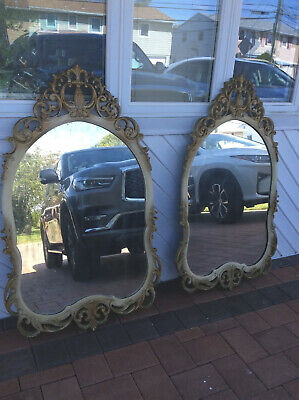 Two Antique Mirrors Hand Carved 1930's Sold Separately