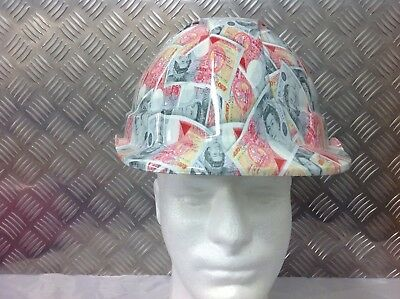 vented safety Helmet hard hat £50 note design Lorry hgv driver Wall Art
