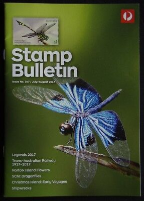 Australia Post Stamp Bulletin Issue No. 347 July - August 2017 Dragonflies