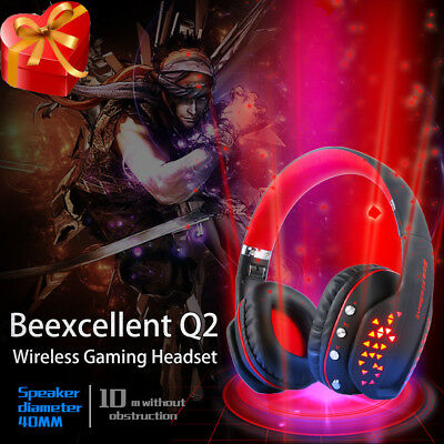 Wireless Bluetooth Gaming Headphone Q2 PC LED MIC Gaming Headphone Beexcellent