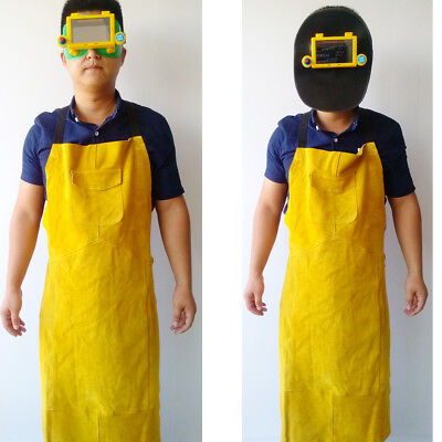 Welding Pocket Apron Suit with Auto Darkening Goggles Helmet Hood