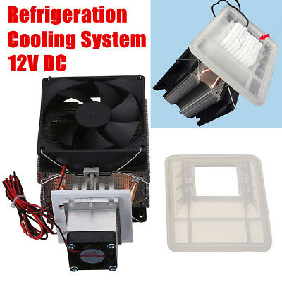 12V 72W Thermoelectric Peltier Refrigeration Cooling System Kit Cooler Fan DIY
