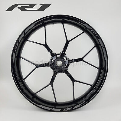 R1 2015 motorcycle wheel decals rim stickers stripes yamaha yzf-r1 YZF grey