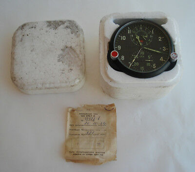 NEW! AChS-1M Russian Soviet USSR Military AirForce Aircraft Cockpit Clock #72872