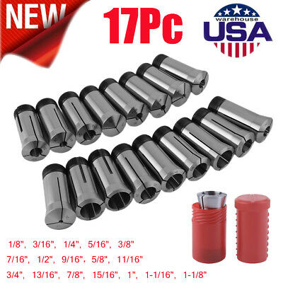 1/8 TO 1-1/8 Inch BY16ths 17PIECE 5C COLLET SET For Precise Machining&Turning SE