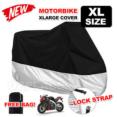 XL Large Waterproof Outdoor Motorcycle Motorbike Cruiser Scoot Motor Bike Cover