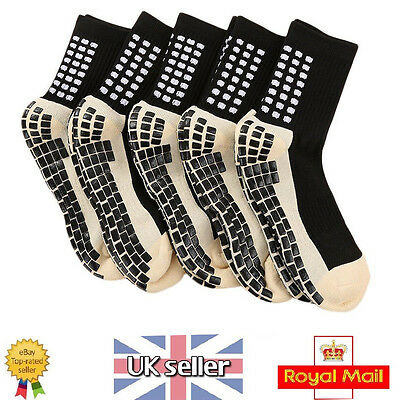 5 Pairs Trusox Tocksox Style Anti Slip Football Soccer Sports Socks UK Seller