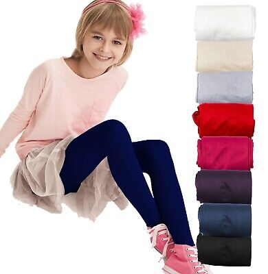 Girls Tights 60 Denier Soft Opaque Age 4 - 11 New Knittex MARY Kids Tights