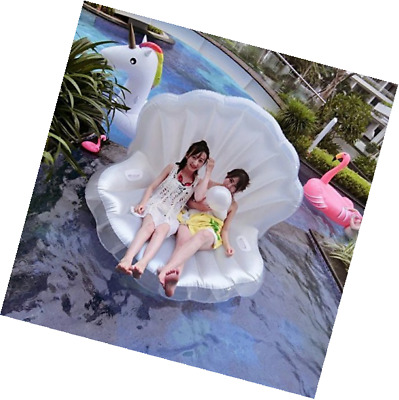 Smartlife Adults Giant Pool Float Pearl Scallops Inflatable Shell Floating