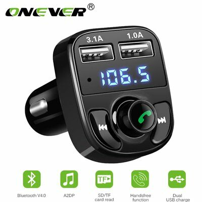 Car Bluetooth LCD FM Transmitter Mp3 Player USB Charger Handsfree Wiress Kit UK