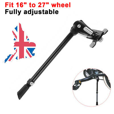 "Heavy Duty Bike Kick Stand Adjustable Rubber Foot Frame For 16"" to 27"" Wheel UK"
