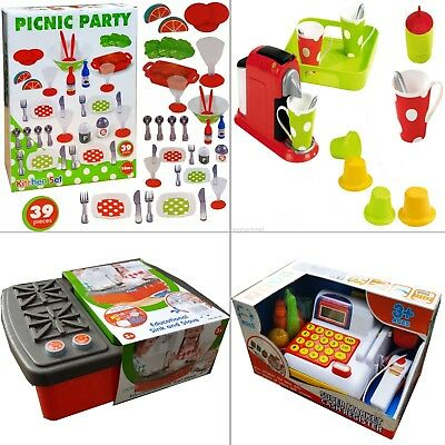 Kids Picnic Creative Coffee Activity Register Sink Stove Toys Play Fun Gift Xmas