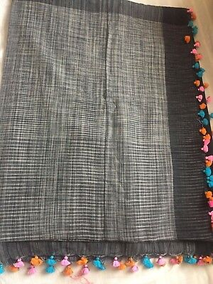 Indian Kanchipuram / Fancy Bridal / Katan/Handloom Cotton Tassel Saree 127
