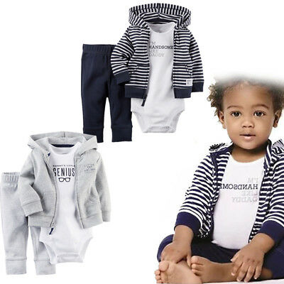 Carters Newborn 6 9 12 18 24 Months Cardigan Pants Set Baby Boy Clothes Outfit