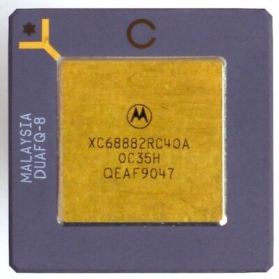 Motorola 68882 40Mhz Socketed FPU Floating Point Math Co-Processor XC68882RC40A