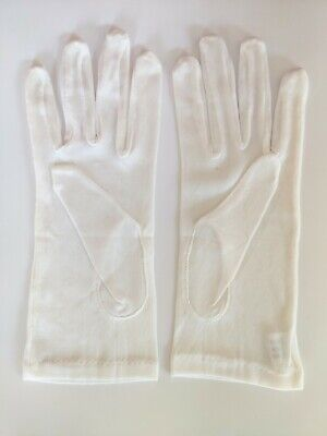 100% Pure Silk  Gloves Liner White Only wedding Anti Spots