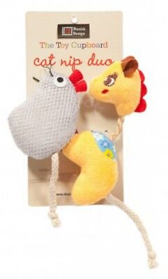 Danish Design Gracie And Millie Catnip Pet Cat Home Fun Play Time Duo Toy