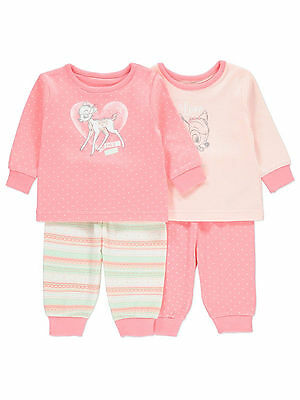 """Disney's """"bambi"""" Pack Of 2 Mix & Match Pyjamas. New In Packet."""