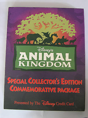 Disney Animal Kingdom Collector's Edition Commemorative Package Phone Card Pins